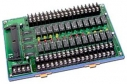 24 Channels Form C Relay (24V) Daughter Board, Opto-22 Compatible, DIN-Rail Mounted, 24x DO