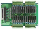 24-Channel Solid State Relay Daughter Board, Opto-22 Compatible, DIN-Rail Mounting, Plug-in Terminal, 24x DO