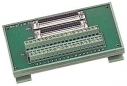 I/O Connector Block, DIN-Rail Mountingand Male-Male, Include: CA-3710 (37-pin D-sub cable 1.0m)