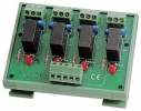 4 Channels Power Relay Module, 1 Contact Form C with Protection, DIN Rail Mounting, board, 4x DO