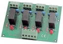 4 Channels Power Relay Module, 1 Contact Form C with Protection, board, DIN-rail, 4x DO