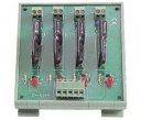 4 Channels SSR Relay Module, 1x Contact Form A with Protection, with DIN-Rail Mounting Kit, board, 4x DO