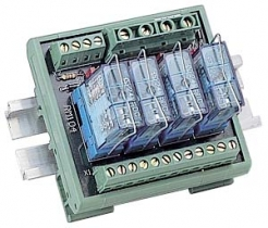 4 Channels Power Relay Module, 1 Contact Form C, with DIN-Rail Mounting Kit, board, 78x77mm, 4x DO
