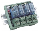 4 Channels Power Relay Module, 2 Contacts Form C, with DIN-Rail Mounting Kit, board, 4x DO