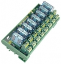 8 Channels Power Relay Module, 2 Contacts Form C, with DIN-Rail Mounting Kit, board, 8x DO