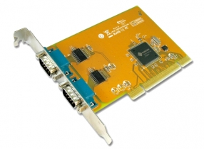 2-port RS-232 Universal PCI Serial converter, communication card