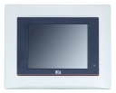 "Compact Fanless Touch Panel Computer, 5.7"" VGA TFT, CPU AMD 500MHz, 1x CF, 1x RS-232, 1x RS-232/422/485, 2x USB, 1x 100base-TX, audio, 1x MiniPCI, 1x PC-104"