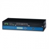 Industrial Serial Device Server, 2x RJ-45, 16x RS-232/422/485, DIN-Rail, 10/100 Mbps Fast Ethernet, wt -20+70, IP-50